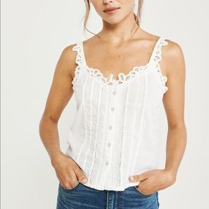 Abercrombie & Fitch Lace Trim Cami